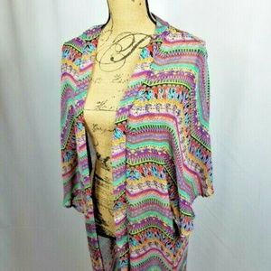 Francesca's Alya Long Kimono Beach Cover-up